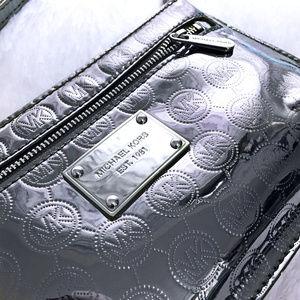 Authentic Michael Kors Metallic Silver Wristlet